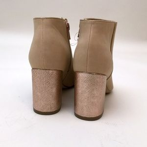 Katy Perry Collections Shoes - NEW Katy Perry Ankle Booties Rose Gold Block Heel